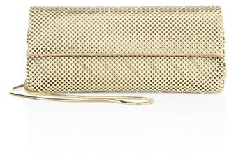 Whiting & Davis Crystal Chevron Convertible Clutch