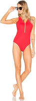 Alexander Wang Fish Line Detail One Piece in Red