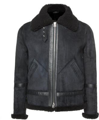 Acne Studios Ian Shearling-Trimmed Suede Jacket