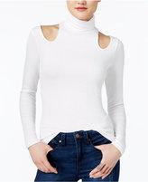 GUESS Carlise Cold-Shoulder Turtleneck Top