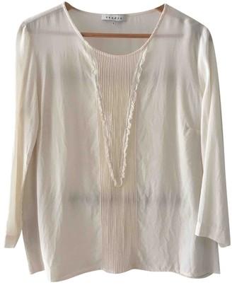 Sandro White Silk Skirt for Women