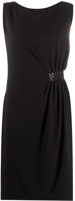 Paule Ka Beaded Waist Midi Dress