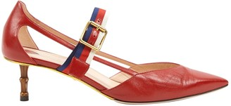 Gucci Red Leather Heels