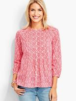 Talbots Pintucked Popover - Feathered Scallops
