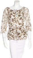 Alice + Olivia Silk Abstract Print Blouse