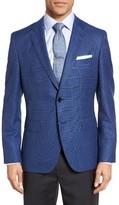 BOSS Men's Jeen Trim Fit Plaid Wool Sport Coat