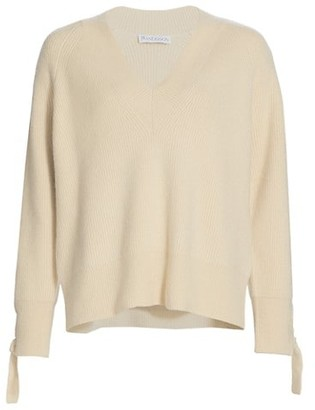 J.W.Anderson Cable Detail Relaxed V-Neck Knit Sweater