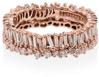 Suzanne Kalan Short Stack 18kt rose gold diamond eternity ring