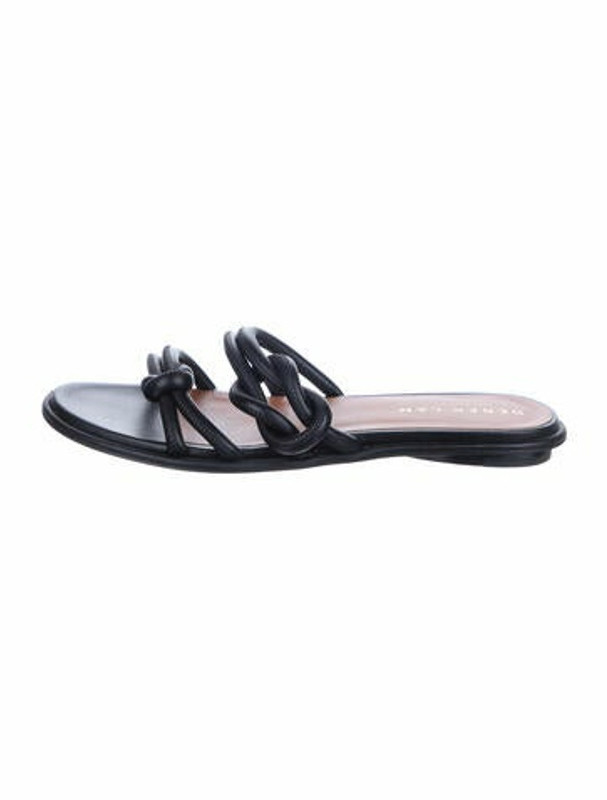 Derek Lam Leather Slides Black