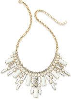 ABS by Allen Schwartz Gold-Tone White Stone and Crystal Deco Statement Necklace