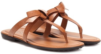 Tod's Leather thong sandals
