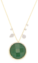 Meira T 14K Yellow Gold, Emerald Doublet & 0.59 Total Ct. Pave Diamond Pendant Necklace
