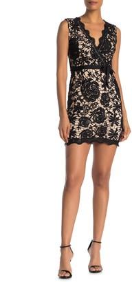 Love by Design Selma Surplice Lace Dress