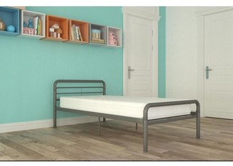 DHP Twin Metal Bed with Mattress, Multiple Colors