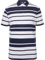 Dunhill Links - Blair Striped Stretch-piqué Golf Polo Shirt - White