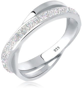 Elli Women's 925 Sterling Silver Wrapped Ring Size - R 1/2