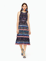 Kate Spade Embroidered sequin tassel dress