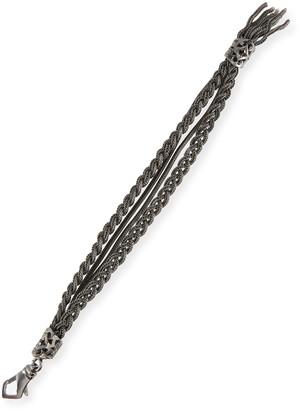 Emanuele Bicocchi Men's Four-Strand Sterling Silver Bracelet