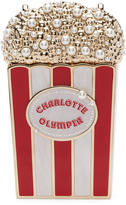 Charlotte Olympia Gold and Red Popcorn Clutch