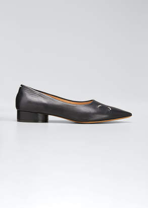 Maison Margiela Kiki Pointed-Toe Loafers