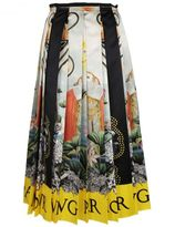 Gucci Waterlilies Print Skirt