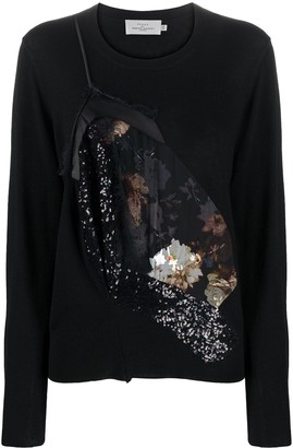 Preen by Thornton Bregazzi Peggy Bloom reconstructed sweater
