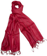 One Kings Lane Handmade Silk Herringbone Wrap - Red