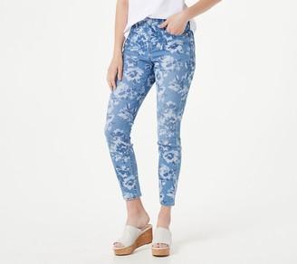 Isaac Mizrahi Live! Regular TRUE DENIM Floral Print Ankle Jeans