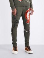 Ralph Lauren Purple Label Tiger-intarsia wool and cashmere blend jogging bottoms