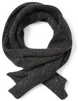 Frank & Oak Donegal Tweed Knit Scarf in Black