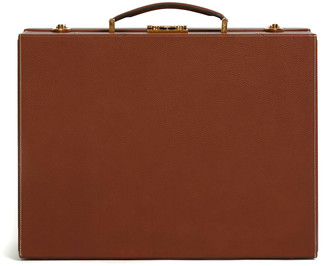 Mark Cross Small Grace Leather Trunk Top Handle Bag
