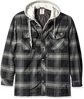 Dickies Men's Relaxed Fit Hooded Yarn Dye Plaid Shirt Jacket