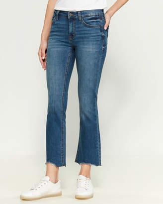 Kensie Rana Flare Crop Mid-Rise Jeans