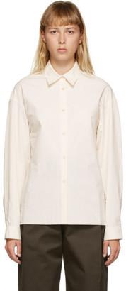 AMOMENTO Off-White Drop Shoulder Shirt
