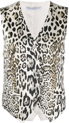 Ermanno Scervino V-neck leopard-print waistcoat