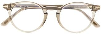 Tom Ford TF5557B round-frame optical glasses
