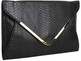 Steve Madden Croco Clutch (Black) - Bags and Luggage