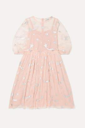Stella McCartney Metallic Printed Tulle Dress - Pink