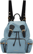 Burberry Blue Medium Nylon Rucksack