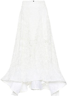 Maticevski Flared lace skirt