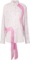 Natasha Zinko floral ribbon shirt