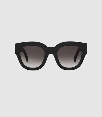 Reiss Cleo - Monokel Eyewear Acetate Sunglasses in Black