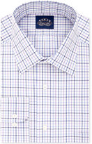 Eagle Men's Big & Tall Purple Tattersall Dress Shirt