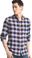 Gap Flannel gingham shirt
