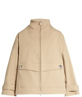 ADAM by Adam Lippes Stand-collar stretch-cotton jacket