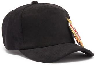 Venna 'Love' applique suede baseball cap