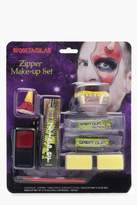 boohoo Halloween Fang Zipper Face Make Up Kit