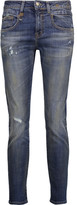 R 13 Low-rise distressed skinny jeans