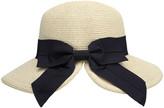 Simplicity Women's Sunhats Mix - Light Beige Bow Straw UPF 50+ Sunhat