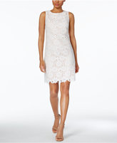 Jessica Howard Floral-Lace Shift Dress